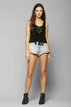 Staring At Stars Fringe Tank Top #urbanoutfitters