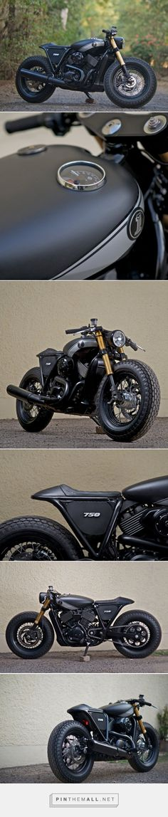 Blacked out cafe racer