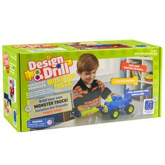 Design & Drill Power Play Vehicles Monster Truck and thousands more of the very best toys at Fat Brain Toys. When it comes to monster trucks, half the fun is building and the other half is driving. With this kit, you get to do both! Snap the parts together, secure them with the fifteen bolts and the electric drill, and then take off on the ultimate off-roading adventure!