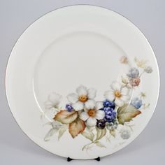 Painted Plates, Hand Painted, Cream Dinner Plates, Beautiful Flower Drawings, Butterfly Watercolor, Charger Plates, China Painting, Dinnerware, Decorative Plates