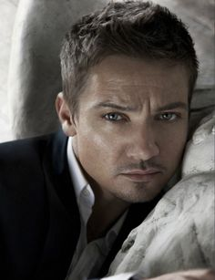 "Jeremy Renner.... I keep on posting him 'cause he's got those eyes!  AND because I know ""T"" will re-post it!!!"