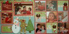 Magic Of Christmas (KNG Kit)... Scrapbook Layout #Scrapbook #Layout #Scrapbooking  #Page #Scrap