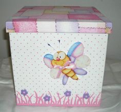 portacosmeticos para bebe - Buscar con Google Arts And Crafts, Paper Crafts, Decoupage Box, Pretty Box, Keepsake Boxes, Storage Boxes, Holidays And Events, Diy Painting, Wooden Boxes