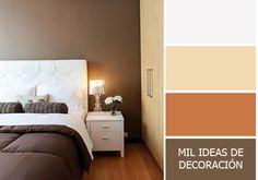 Paleta para combinar colores en el dormitorio