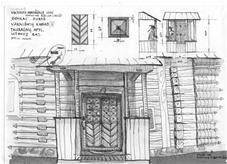 Gyvenamojo namo dalys: prieangis ir durys