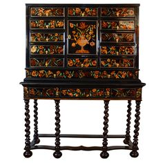 Louis XIV Marquetry Cabinet on Stand 17th Century | From a unique collection of antique and modern cabinets at https://www.1stdibs.com/furniture/storage-case-pieces/cabinets/