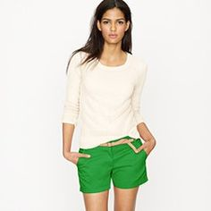 "JCrew 4""chino shorts...could it be a shorts-wearing summer this year?!"