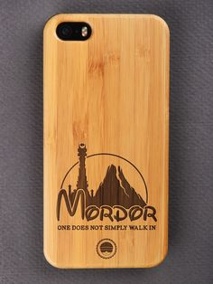 Buy LOTR Mordor Spoof Engraved Wooden Smartphone Case Online for Bombay Trooper, One Does Not Simply, Wooden Phone Case, Lotr, Smartphone, Phone Cases, The Lord Of The Rings, Phone Case