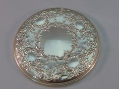 Towle Sterling Purse Mirror Old Master Pttn Silver 925 Round Cosmetics Compact