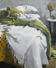 """Green Blanket"" by Maggie Siner. Love the color palette."