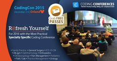Refresh yourself for 2016 most practical specialty-specific coding conference. #CodingCon2015  Grab your FREE pass today!  #medicalconference #FREEPasses #Orlando