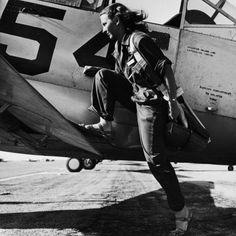 "tradlands: "" A pilot of the U.S. Women's Air Force Service at Avenger Field, Texas, in 1943. """