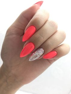 Classy Acrylic Nails, Summer Acrylic Nails, Best Acrylic Nails, Dope Nails, Neon Nails, Pink Nails, Coffin Nails Ombre, Ring Finger Nails, Sparkle Nails