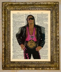 Bret the Hitman Hart Dictionary Art. $5.00, via Etsy.