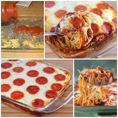 Delicious Pizza Spaghetti Casserole,It makes a delicious dinner for any night of the week. :)  Check recipe--> http://wonderfuldiy.com/wonderful-diy-delicious-pizza-spaghetti-casserole/#
