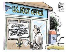 USPS value | Usps humor, Office cartoon, Post office  |Office Humor Politics