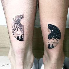 Ink Your Love With These Creative Couple Tattoos kreative paar Tattoo-Ideen © 💘💘💘 Denken und Trinken Pair Tattoos, Bff Tattoos, Trendy Tattoos, Unique Tattoos, Small Tattoos, Couple Tattoos Unique Meaningful, Small Couples Tattoos, Tattoo Quotes, Tattoo Couples