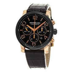 Mont Blanc Men's 104688 'Time walker Chronometer' Dial Strap Rose Gold Swiss Automatic Watch