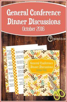 This is so great! I'm so glad I found it. October 2016 General Conference Dinner Discussions