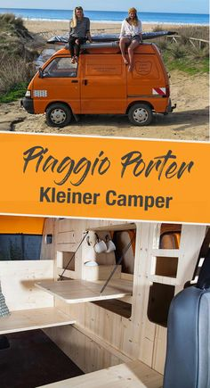 PIAGGIO PORTER – The smallest camper expansion as a mobile home Piaggio Porter – Wohnmobil Ausbau - Creative Van Lifes Small Camper Trailers, Tiny Camper, Small Campers, Popup Camper, Rv Campers, Travel Trailers, Minivan, Truck Camper, Motorhome