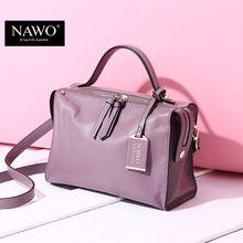 NAWO Zipper Women Genuine Leather Bag Women's Messenger Bags Tote Handbags Women Famous Brands High Quality Shoulder Bag Ladies  Price: US $99.98  Sale Price: US $44.99  #dressional