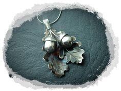 Acorns and Oak Leaves  Silver Pendant