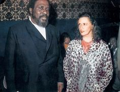 """Thelonious Monk and Baroness Pannonica de Koenigswarter:  In 1954, Monk paid his first visit to Europe, performing and recording in Paris. Backstage Mary Lou Williams introduced him to Baroness Pannonica """"Nica"""" de Koenigswarter, a member of the Rothschild family and a patroness of several New York City jazz musicians. She would be a close friend for the rest of Monk's life, including taking responsibility for him when she and Monk were charged with marijuana possession."""