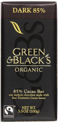 Green & Black's Organic Dark Chocolate, 85% Cacao, 3.5 oz: Amazon.com: Grocery & Gourmet Food