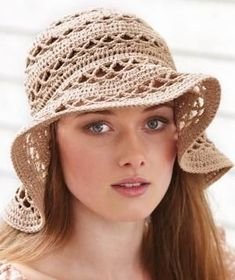 FREE PATTERN SUMMER HAT CROCHET | This floppy hat in its neutral shade is a summer must have – made of ... by soium: