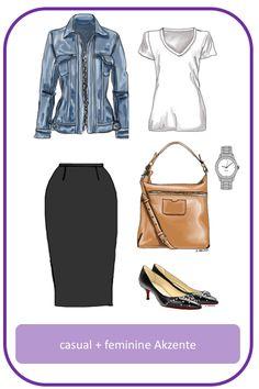 Stil-Mix-Outfit: Casual Outfit mit femininen Akzenten