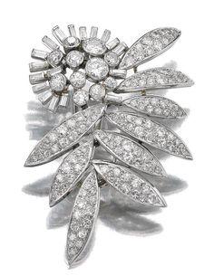 Diamond brooch-pendant, Suzanne Belperron, circa 1960