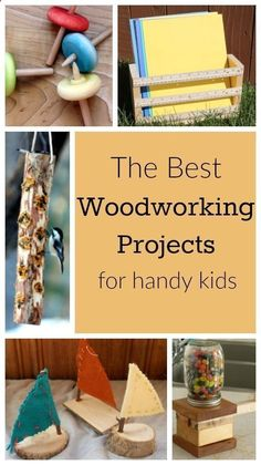 These are great woodworking projects for kids! Perfect for summer holidays - love little kids using tools! #woodworkingforkids
