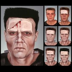 Come realizzare Frankenstein: fronte in lattice: http://www.loacenter.com/trucco-make-up/special-effects/protesi-lattice-nasi-calotte/fronte-zombi-56-protesi-lattice-effetti-speciali.html Mastiz extra per fissare la protesi: http://www.loacenter.com/catalogsearch/advanced/result/?name=mastix+extra&short_description=&sku=&price[from]=&price[to]= base viso e ombretti trucco: http://www.loacenter.com/trucco-make-up.html sangue finto (in aggiunta) + mastix remover ( per staccare la protesi )