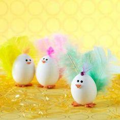 Leuk om met de kinderen de eieren eens zo te versieren voor Pasen ;-)
