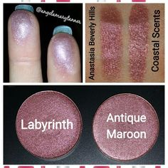 Dupes: Anastasia Beverly hills Labyrinth and coastal scents antique maroon