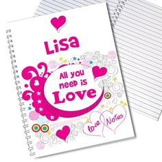 Personalised Doodle Notebook  from Personalised Gifts Shop - ONLY £6.99