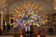 beautiful arrangement at the Hotel de Paris in Monte Carlo