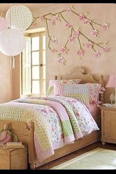 Fresh Room Design ideas for Pretentious and Stylish Teenage Girls. Girl Rooms, Girls room decor, Girls Room Ideas for best result of Home Design Teenage Girl Bedrooms, Little Girl Rooms, Girls Bedroom, Bedroom Decor, Bedroom Ideas, Bedroom Wall, Dream Bedroom, Cozy Bedroom, Bed Room