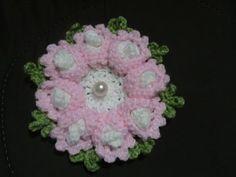 Tutorial flor puritan crochet. Flor grande de ganchillo. Parte 2 de 2. - YouTube