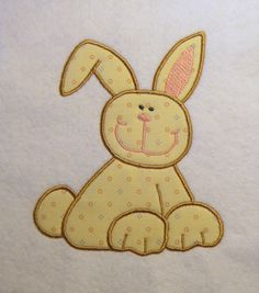 Cute Easter Bunny Applique/Embroidery by LMTEmbroideryDesigns Applique Embroidery Designs, Machine Embroidery, Cute Easter Bunny, Hardware Software, Patches, Sewing, Boys, Creative, Fabric