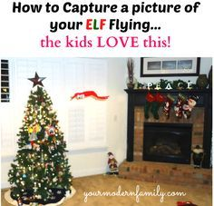 How to catch your ELF flying  – a photo for the kids to keep