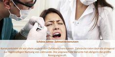 Zahnseide wird in den unterschiedlichsten Variationen angeboten und ist wichtig für die Zahnpflege .Wenn Sie Zahnseide richtig benutzen, verhindern Sie die Entstehung von Plague   und Zahnstein konsequent. #Digitale #3D #Volumentomographie Dental Health, Innovation, The Unit, 3d, Dental Floss, Dental Caries, Cleaning, Oral Health