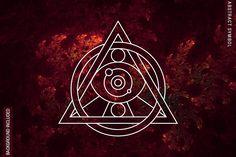 100 Sacred Geometry Symbols by pixaroma on @creativemarket