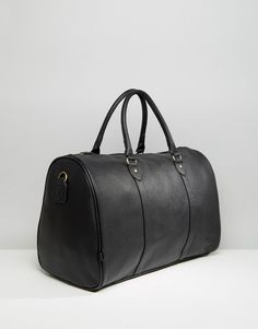 ASOS Smart Holdall in Black Faux Leather $56