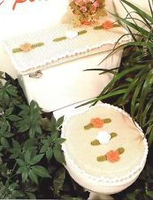 Easy Crochet Pattern Instructions Peach Blossom Bathroom Set,Seat Cover