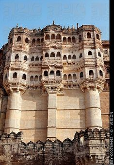 Meherangarh Fort in the beautiful city of Jodhpur in Rajasthan state in India Jaipur, Rajasthan India, Tourist Places, Places To Travel, Places To Visit, India Architecture, Ancient Architecture, Rishikesh, Varanasi