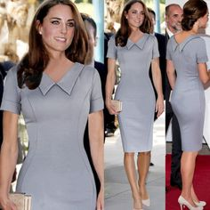 Fashion Trends, Collar Short Sleeves Knee Length Casual Kate Middleton Dresses: Be Pretty Like a Princess through Kate Middleton Dresses