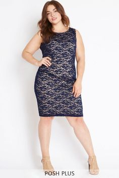 Midnight Fever Lace Dress Plus Size