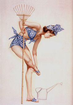How much work is she really getting done?  For More Pinup Pretties: https://www.pinterest.com/thevioletvixen/pin-up-pretties-illustrations/