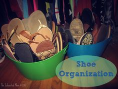 Shoe organization for small closets